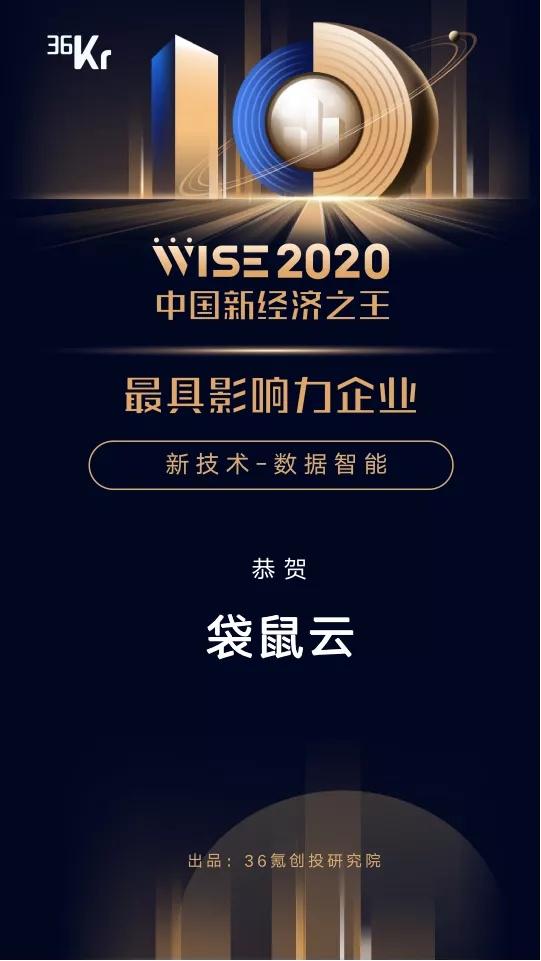 「2020年中国新经济之王最具影响力企业」最新发布,袋鼠云实力上榜